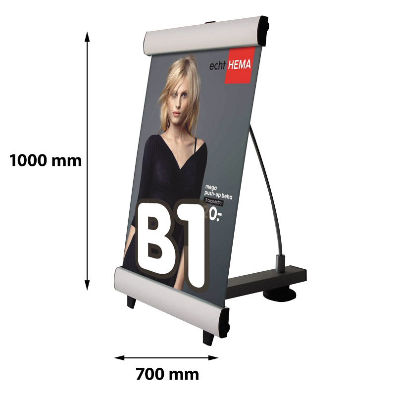 Single-sided mini quick banner B1