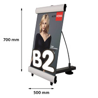 Mini Quick Banner B2 enkelzijdig 500 x 700 mm