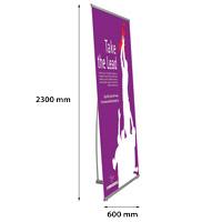 Quick Banner telescopisch 600 x 2300 mm enkelzijdig