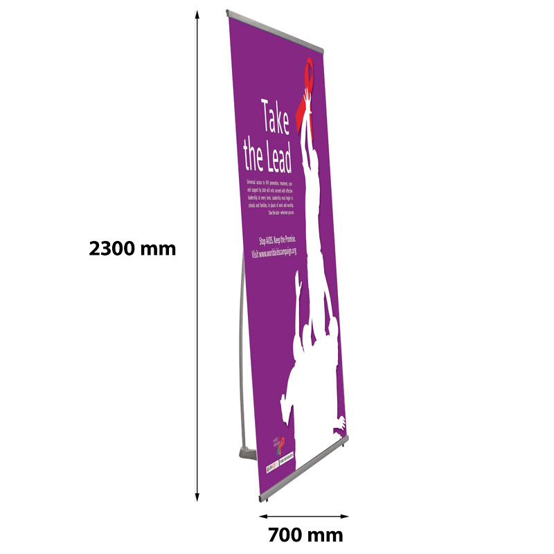 Bannière rapide télescopique 700 x 2300, un côté