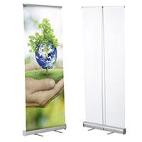 Eco roll banner enkelzijdig met tas 800 mm