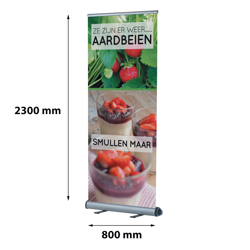 Smart Roll Banner, 800 x 2300 mm, click profile, single-sided