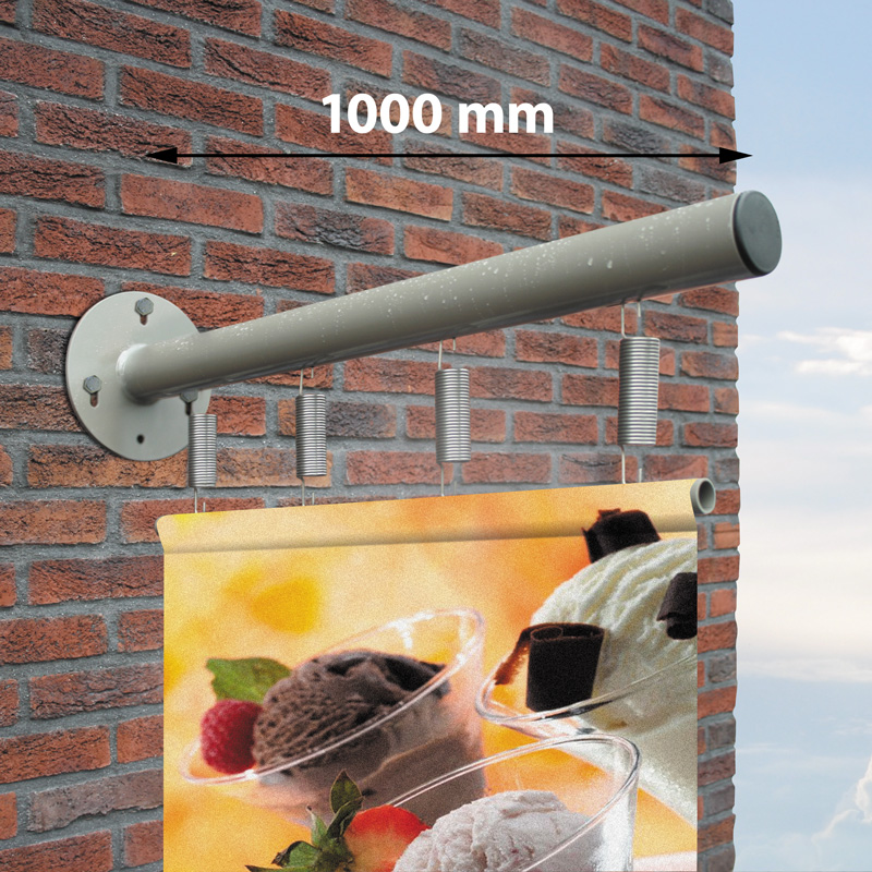 Outdoor Wall Banner 1000 mm, steel