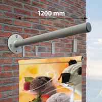 Outdoor Wall Banner 1200 mm, staal