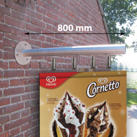 Outdoor Wall Banner 800 mm, RVS