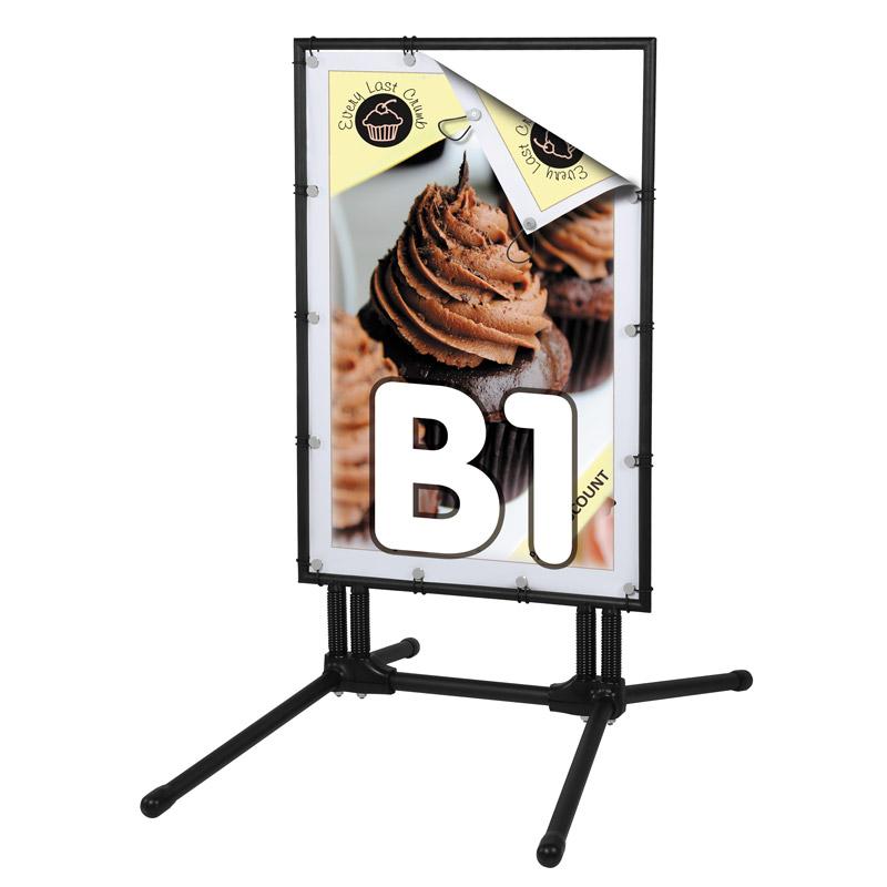 BannerPro B1, noir, pied en H