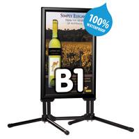 Swing pro zwart B1 700 x 1000 mm 100% waterdicht