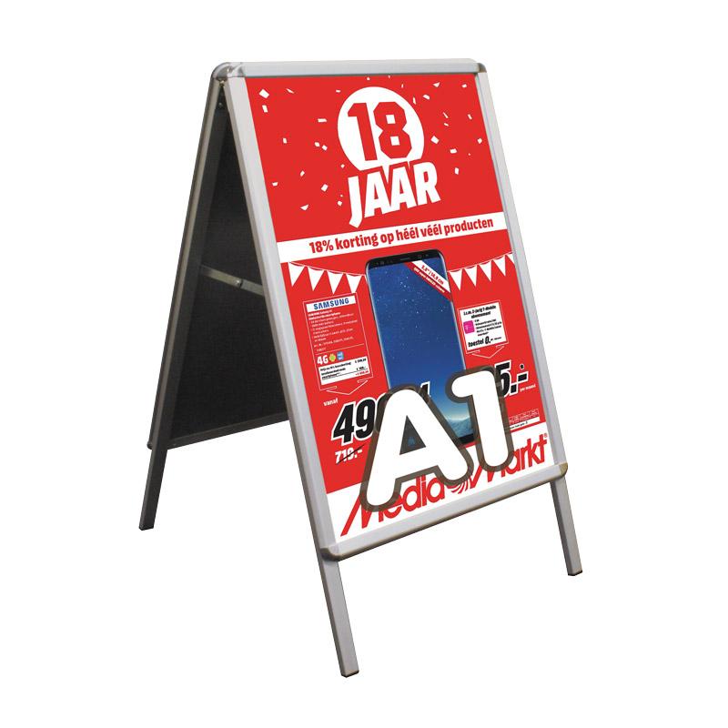 Klik A-Standaard ronde hoek 594 x 841 mm zowel binnen- als buiten te gebruiken