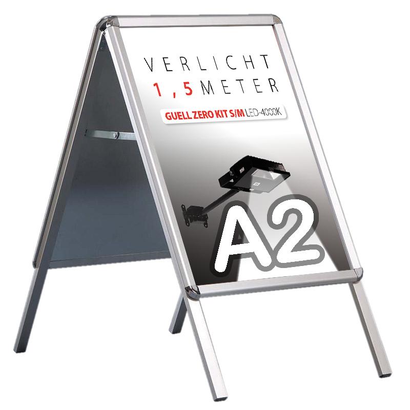 Stoepbord A-model eco 32 mm ronde hoek A2