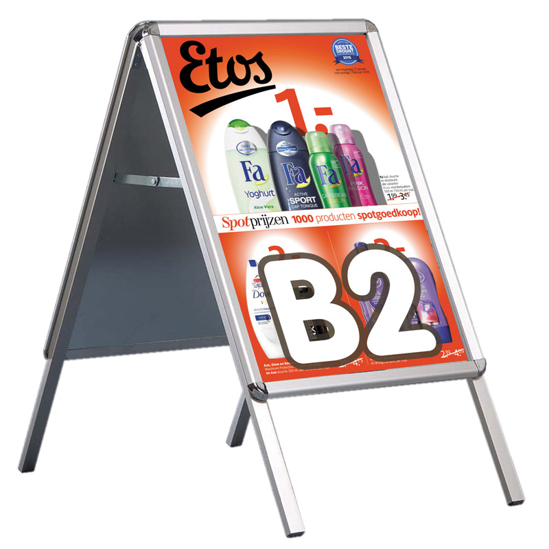 Eco outdoor A-board 32 mm B2 round corners