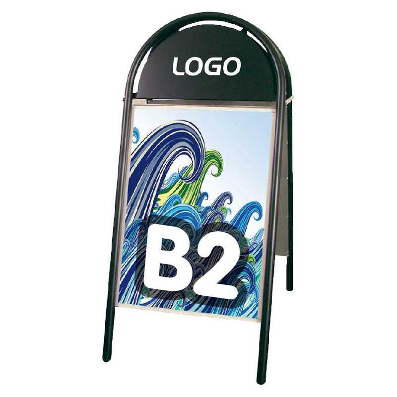 Iron a-board magnetic B2 black