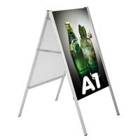 Klik A standaard Easy go zonder paneel 594 x 841 mm  A1 staander hoogte 1150 mmEasy go A Board, w/ou