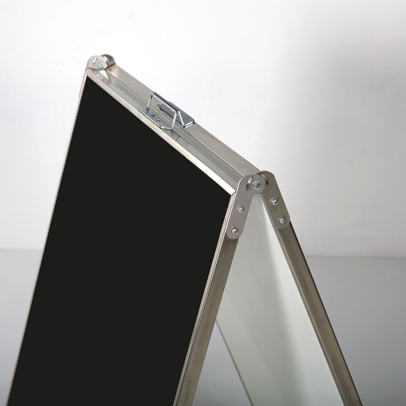 Stainless steel chalk a-board 683 x 562 mm