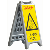Waterbase a-board grey plastic 327 x 588 mm