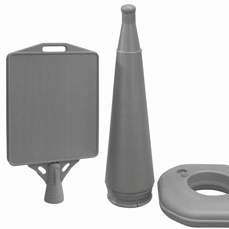Waterbase pyramid grey plastic 336 x 385 mm