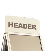 Klik A-standaard Topbord A1 594 x 841 mm, voor het extra laten opvallen van uw reclame.