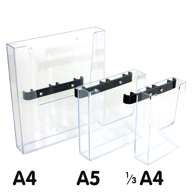 Crown truss brochure holder 1ø3 A4