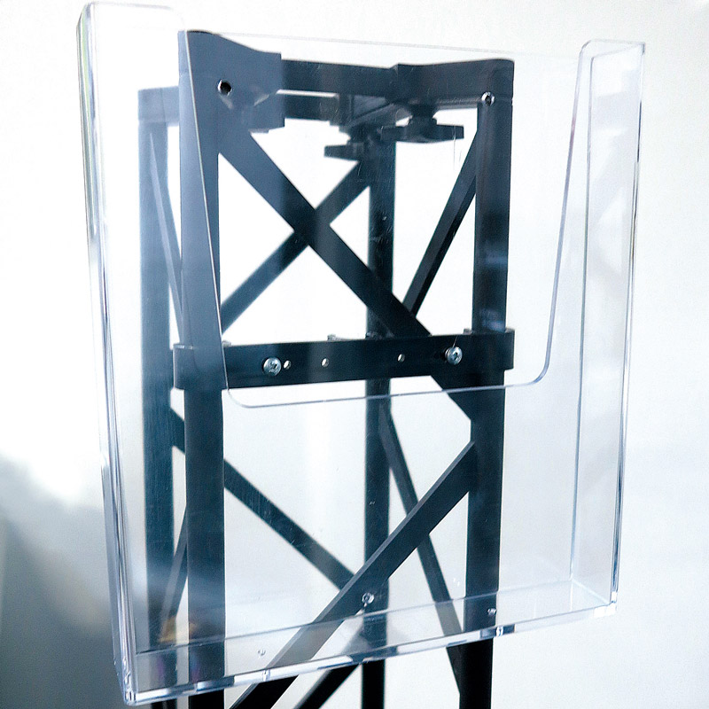 Crown truss brochure holder A4