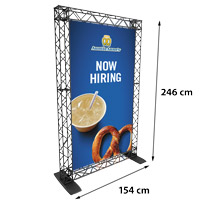 Single Banner model 763 154 cm x 246 cmVoor specificatie van de samenstelling zie de catalogus