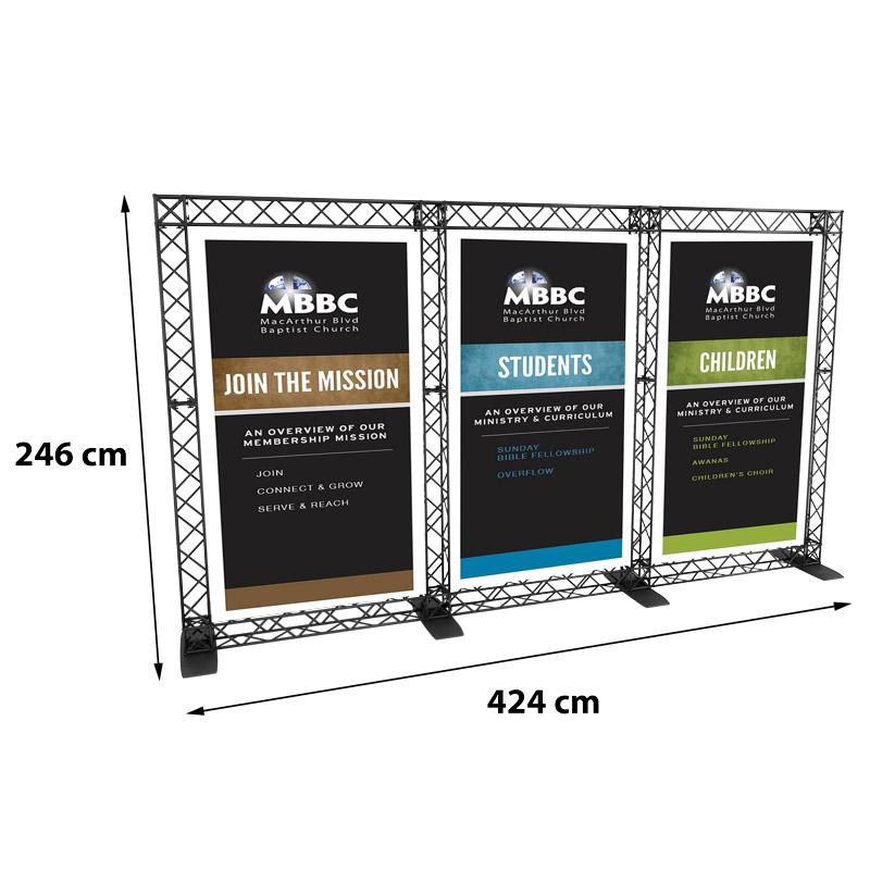 Triple Banner model 765 424 cm x 246 cm