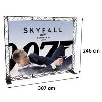 Wall Banner model 766 307 cm x 246 cmVoor specificatie van de samenstelling zie de catalogus