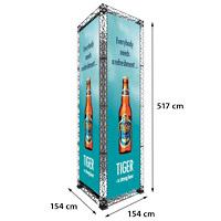 Tower model 767 154 cm x 154 cm x 517 cm. Voor specificatie van de samenstelling zie de catalogus.