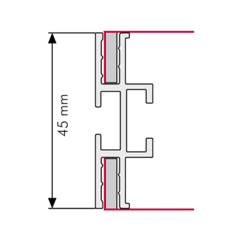 Queen textiel-frame A1, dubbelzijdig