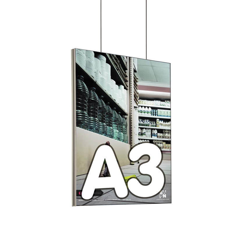 Queen textiel frame dubbelzijdig A3 (plafond) 45 x 15 mm