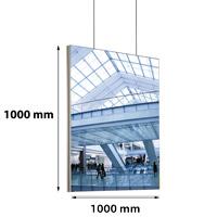 Queen textiel frame dubbelzijdig 1000x1000 mm (plafond) 45 x 15 mm