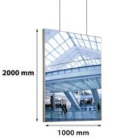 Queen textiel frame dubbelzijdig 1000x2000 mm (plafond) 45 x 15 mm