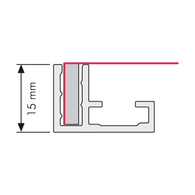 Valet textiel-frame A1, enkelzijdig
