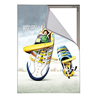 Valet textiel frame enkelzijdig 500 x1000 mm