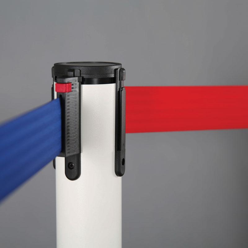 Q belt chrome-red tape