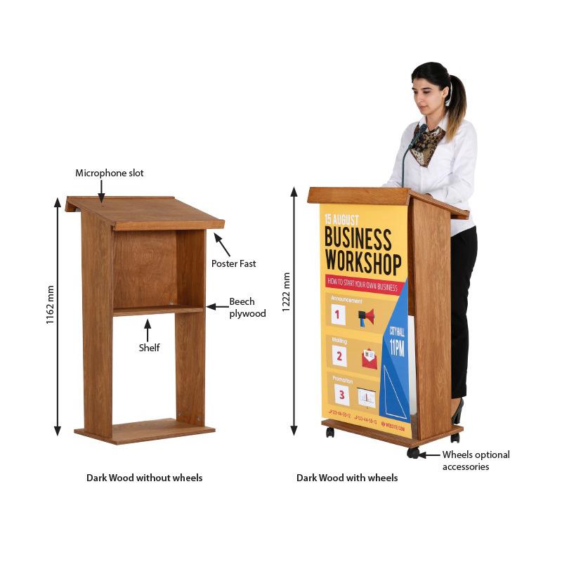 Counter display Wood
