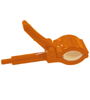 Veerklem voor frame oranje