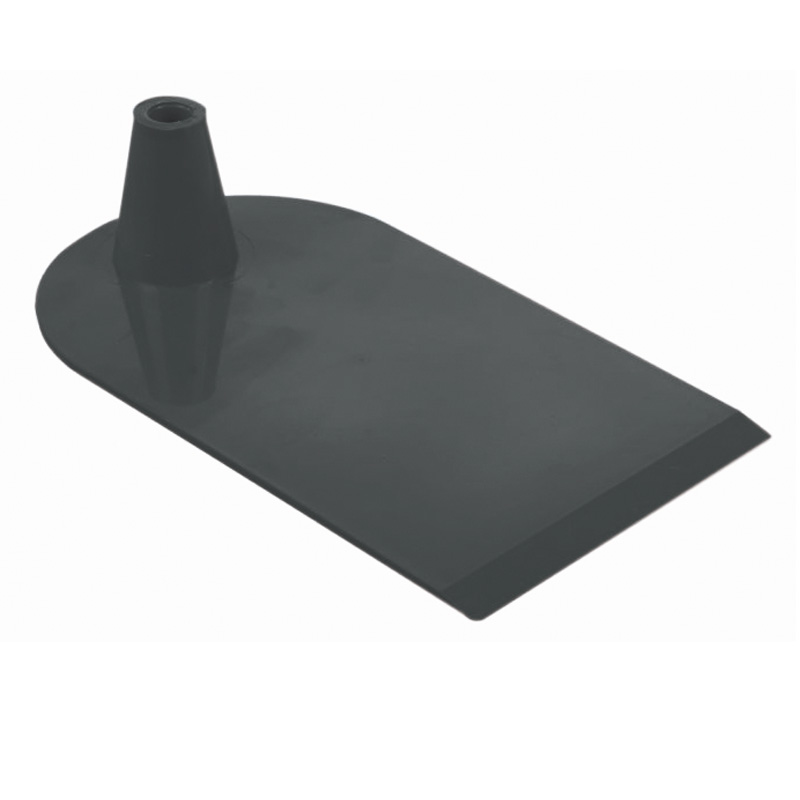 Plastic foot 1 side semi circular black