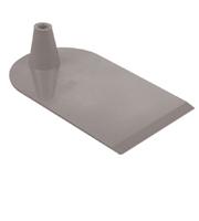 Rechthoekige voet aan 1 zijde half rond grijs
