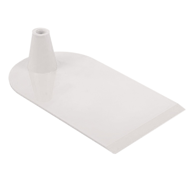 Plastic foot 1 side semi circular white