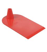 Rechthoekige voet aan 1 zijde half rond rood