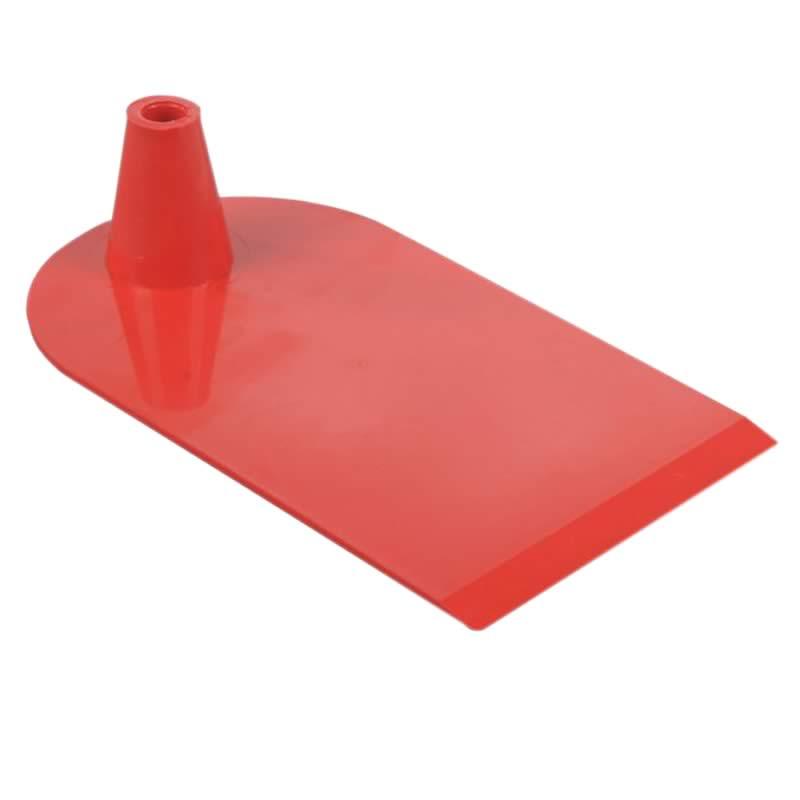 Plastic foot 1 side semi circular red
