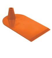 Rechthoekige voet aan 1 zijde half rond oranje