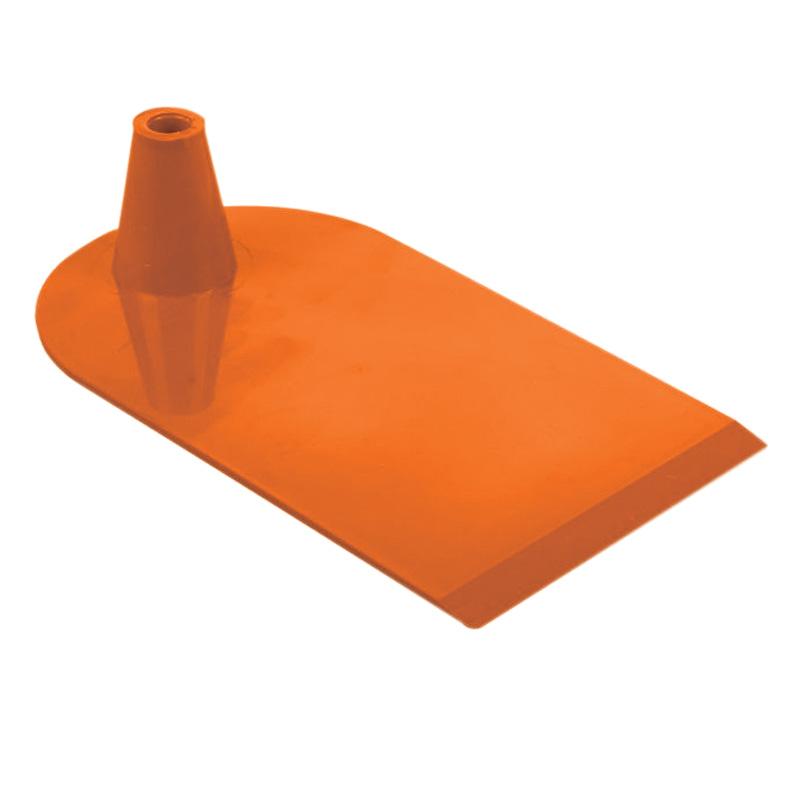 Plastic foot 1 side semi circular orange