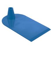 Rechthoekige voet aan 1 zijde half rond blauw