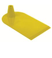 Rechthoekige voet aan 1 zijde half rond geel