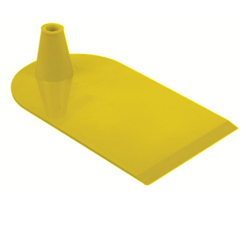 Plastic foot 1 side semi circular yellow