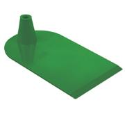 Rechthoekige voet aan 1 zijde half rond groen