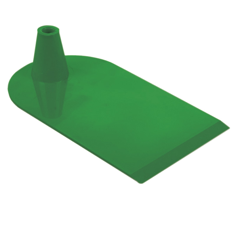 Plastic foot 1 side semi circular green