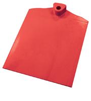 Rechthoekige voet met aan 1 zijde gegolfd verzwaard d.m.v. stalen plaat rood