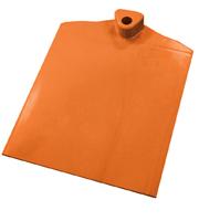 Rechthoekige voet met aan 1 zijde gegolfd verzwaard d.m.v. stalen plaat oranje