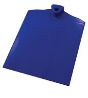 Rechthoekige voet met aan 1 zijde gegolfd verzwaard d.m.v. stalen plaat blauw